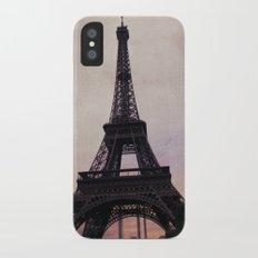Vintage Paris iPhone X Slim Case