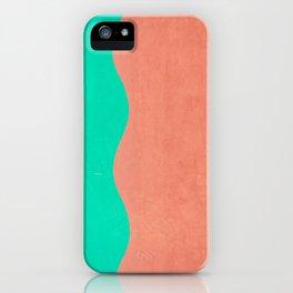 Coral and Seafoam iPhone Case