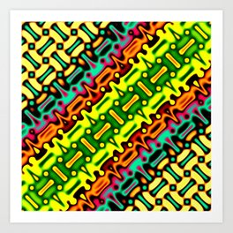 Tribal Fractal Art Print