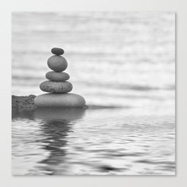 Seaside Harmony Zen Pebble Canvas Print