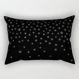 Black Stars Rectangular Pillow