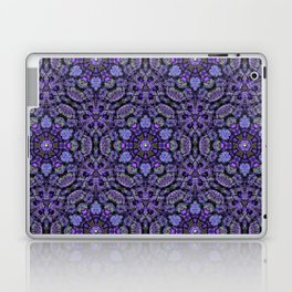 Purple Lava Rock Mandala Pattern Laptop & iPad Skin
