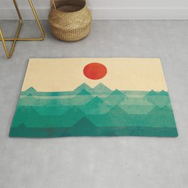 The ocean, the sea, the wave Rug