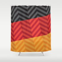 germany Shower Curtains featuring Germany Flag by m. arief (mochawalk)