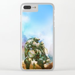 Beauty and the Thirty Ton Beast Clear iPhone Case