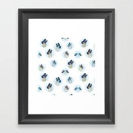 Hampster Butterflies Framed Art Print