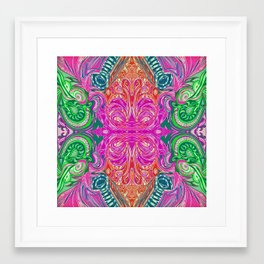 Mali's Jungle 4 Symmetrical design Framed Art Print
