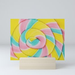 Rainbow Lollipop Mini Art Print