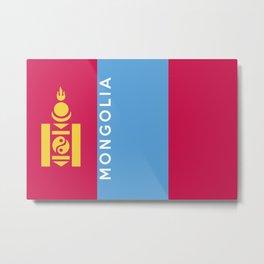 mongolia flag Metal Print