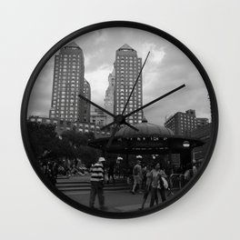 Black and White Union Square Wall Clock