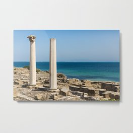 ruined temple in Sicily Metal Print