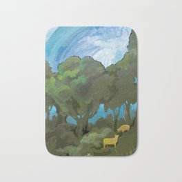 Brewing Storm With Sheep Bath Mat