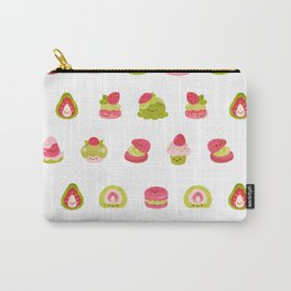 Strawberry Matcha Carry-All Pouch