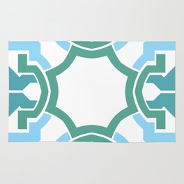 Green rectangle 2 Rug
