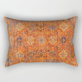 Oriental Vitange Moroccan Rug Design Rectangular Pillow