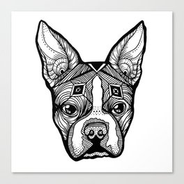 Cosmic Boston Terrier Canvas Print