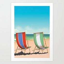 Summer Deck chairs Art Print