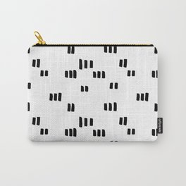 Line Dot Black Paint on Paper Carry-All Pouch
