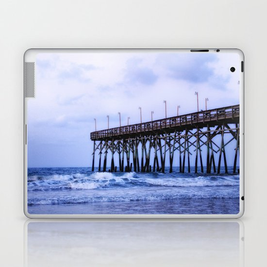 Waves against the Pier Laptop & iPad Skin