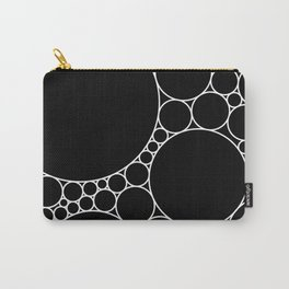 Geometric Abstract - Circles (White) Carry-All Pouch