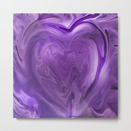 Abstract Purple Heart 1056 Metal Print