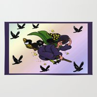 witch Area & Throw Rugs featuring Witch by Art-Motiva
