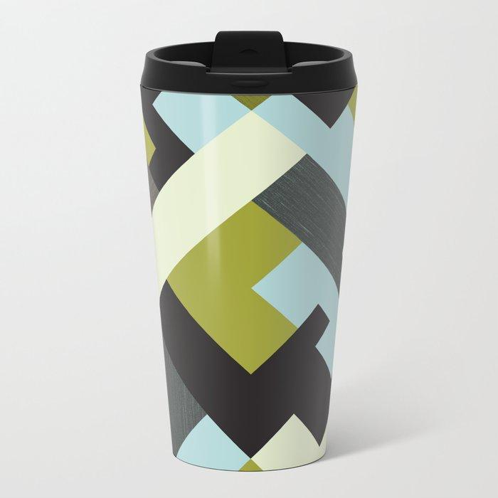 Rectangular geometric Metal Travel Mug