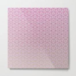 Tessellation - Culture Clash - Polytone Fuschia / Apple-green Metal Print