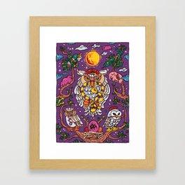 King of owl Framed Art Print