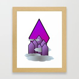 The Purple Mountains Framed Art Print