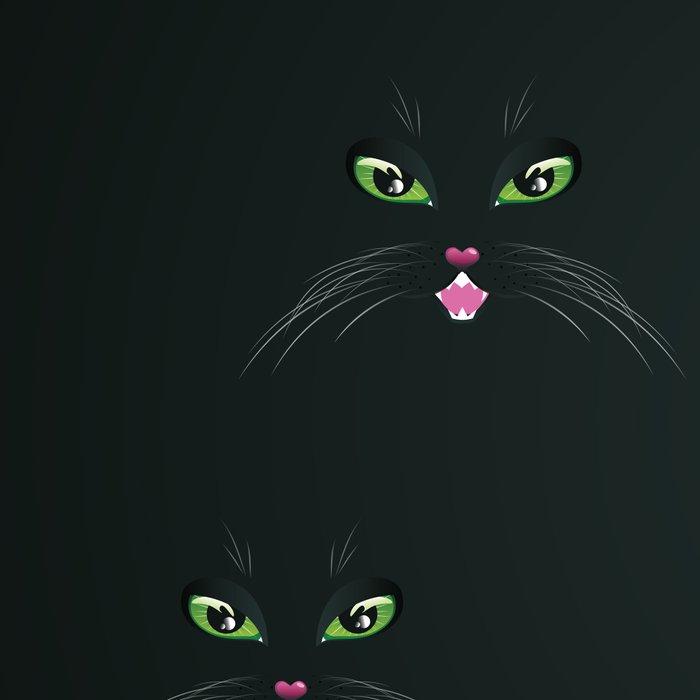Cat face in the dark Leggings