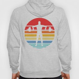 Retro Style T Shirt Silhouette Vintage Weight Lifting Hoody