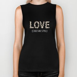 Top Fun Cheetah Lover Gift Design Biker Tank