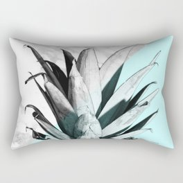 Pineapple Top Marble Pastel Blue Rectangular Pillow
