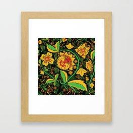 Russian traditional khokhloma Framed Art Print