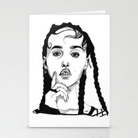 fka twigs Stationery Cards featuring FKA Twigs by ☿ cactei ☿