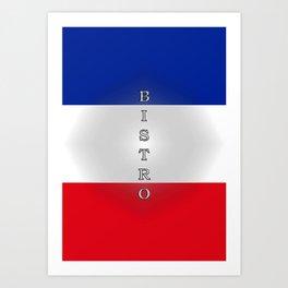 Tricolore Bistro Art Print