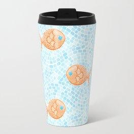 Fish Mosaic Travel Mug