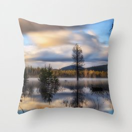 It Does Exist a beautiful dreamy photograph of Dry Lake Throw Pillow