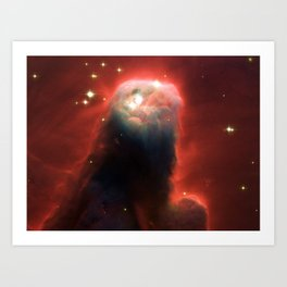 Space pillar of gas Art Print