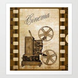 Old Cinema Reels Art Print