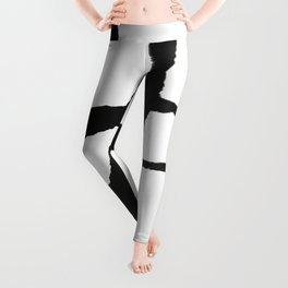 0523: a simple, bold, abstract piece in black and white by Alyssa Hamilton Art Leggings
