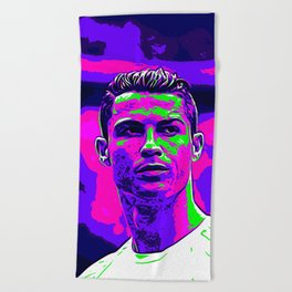 Ronaldo - Neon Beach Towel