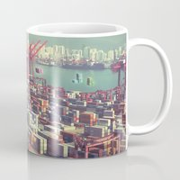 tetris Mugs featuring Pier Tetris by Ivan Guerrero