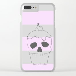 Skullcake big Clear iPhone Case