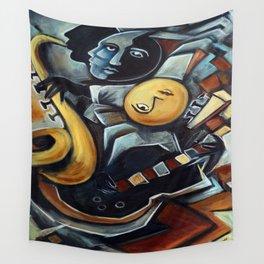 Indigo Blues Wall Tapestry