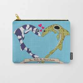 Shark Bros in Love Carry-All Pouch
