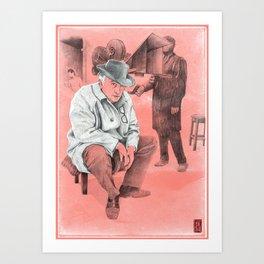 "Fellini ""red"" Art Print"