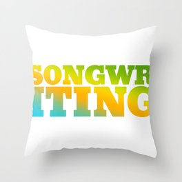 Songwriting  Hobby Bright and Colorful Throw Pillow