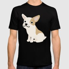 Frenchie - Cute Dog Series Mens Fitted Tee MEDIUM Black